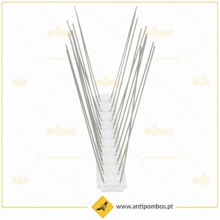 Espigões Espanta-Pombo 2 Hastes Inox-Policarbonato Proteção até 10 cm
