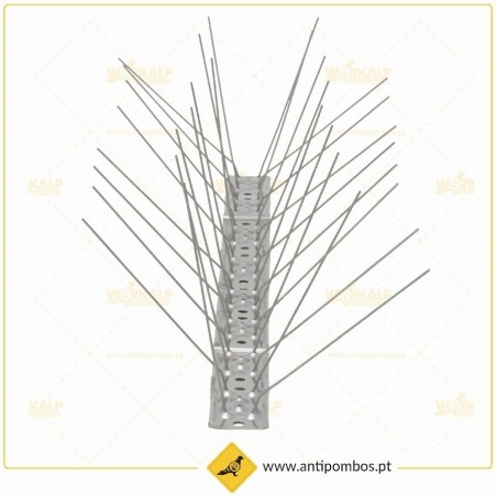 Espigões Anti-Pombo 4 Hastes Inox Proteção até 20 cm